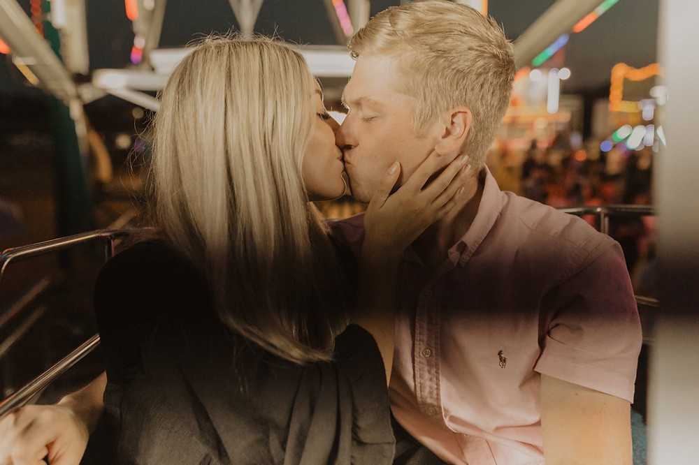 Virginia carnival ferris wheel couples session