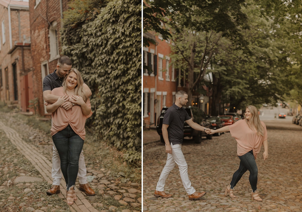 Old town, Alexandria Virginia Engagement session