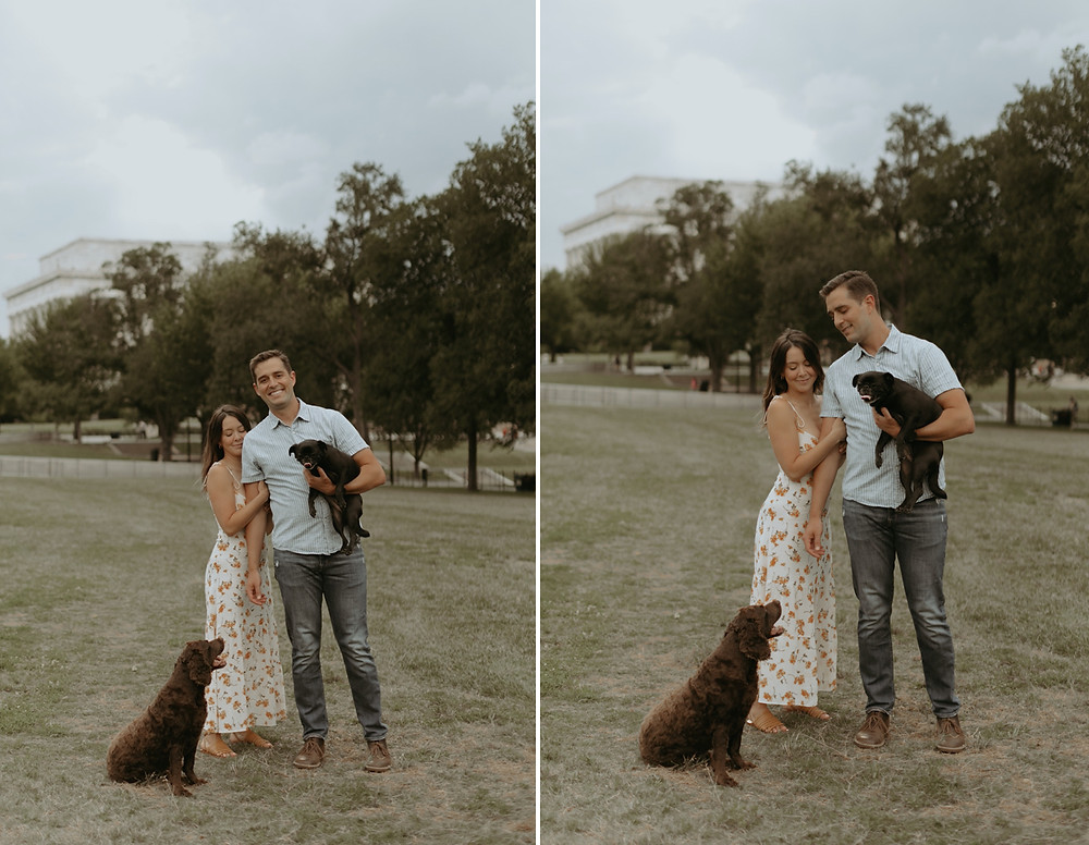 national mall engagement session