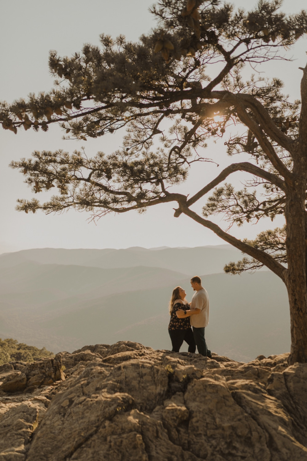 Ravens roost overlook engagement session