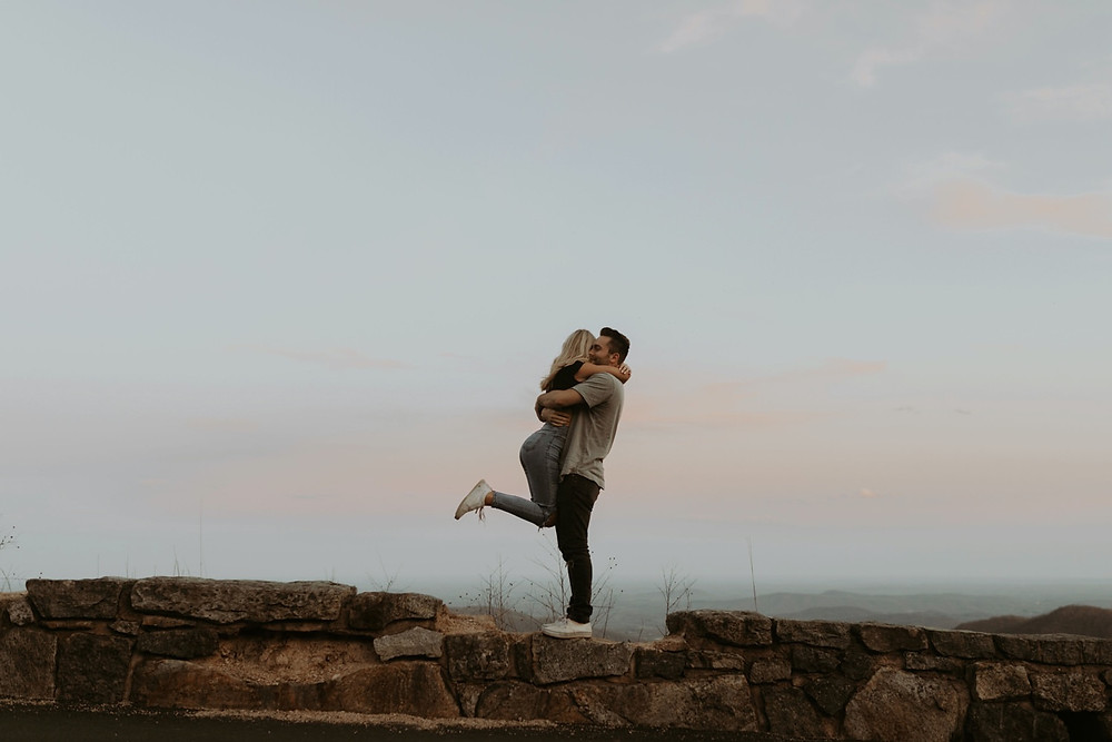 Shenandoah valley sunset couples session