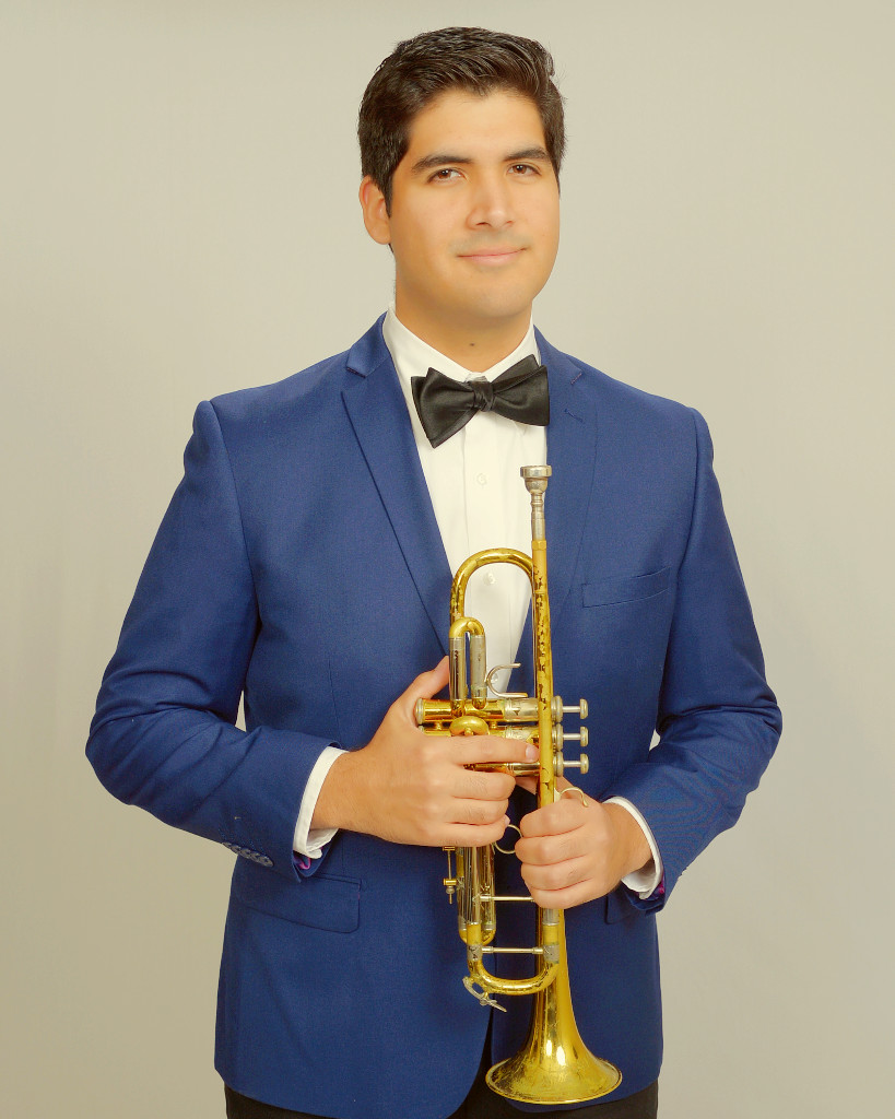 Jonathan Sky with trumpet