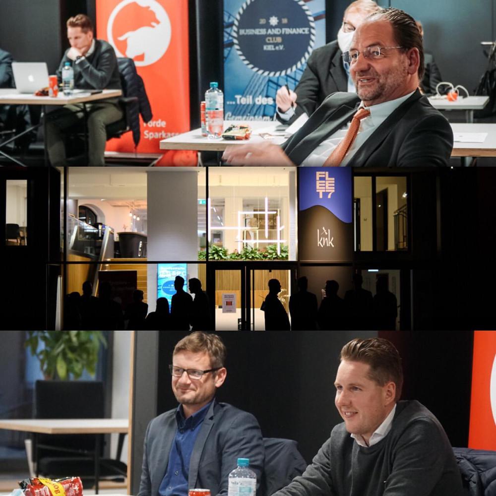 Die unabhängige Jury des Vorentscheids bestand aus Martin Wilhelm (IfK), Prof. Dr. Alexander Klos (CAU Kiel), Florian Unrau (Förde Sparkasse) und Torsten Boer (Berenberg Privatbank).