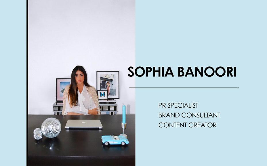 Intro page - SOPHIA BANOORI - Profile &