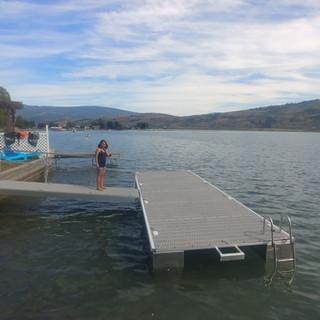 24 foot pontoon dock and 14 foot ramp