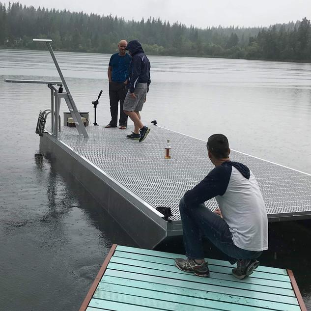 20 Foot pontoon dock