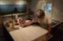 Fraçois Perras in his workshop