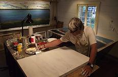François Perras dans son atelier