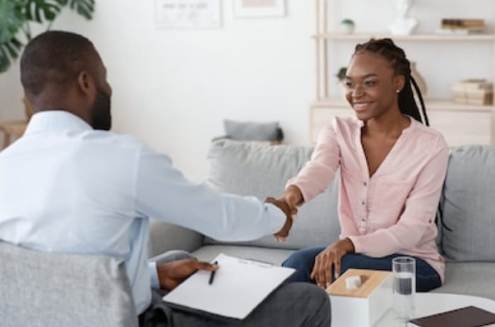 A Life coach and his female client