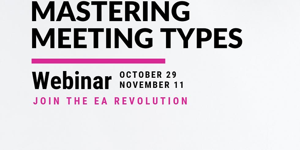 Mastering Meeting Types - October Webinar