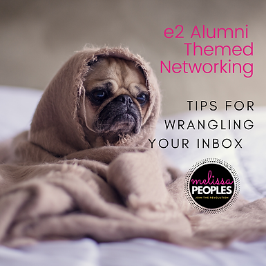 e2 Conference Alumni   Tips For Wrangling Your Inbox