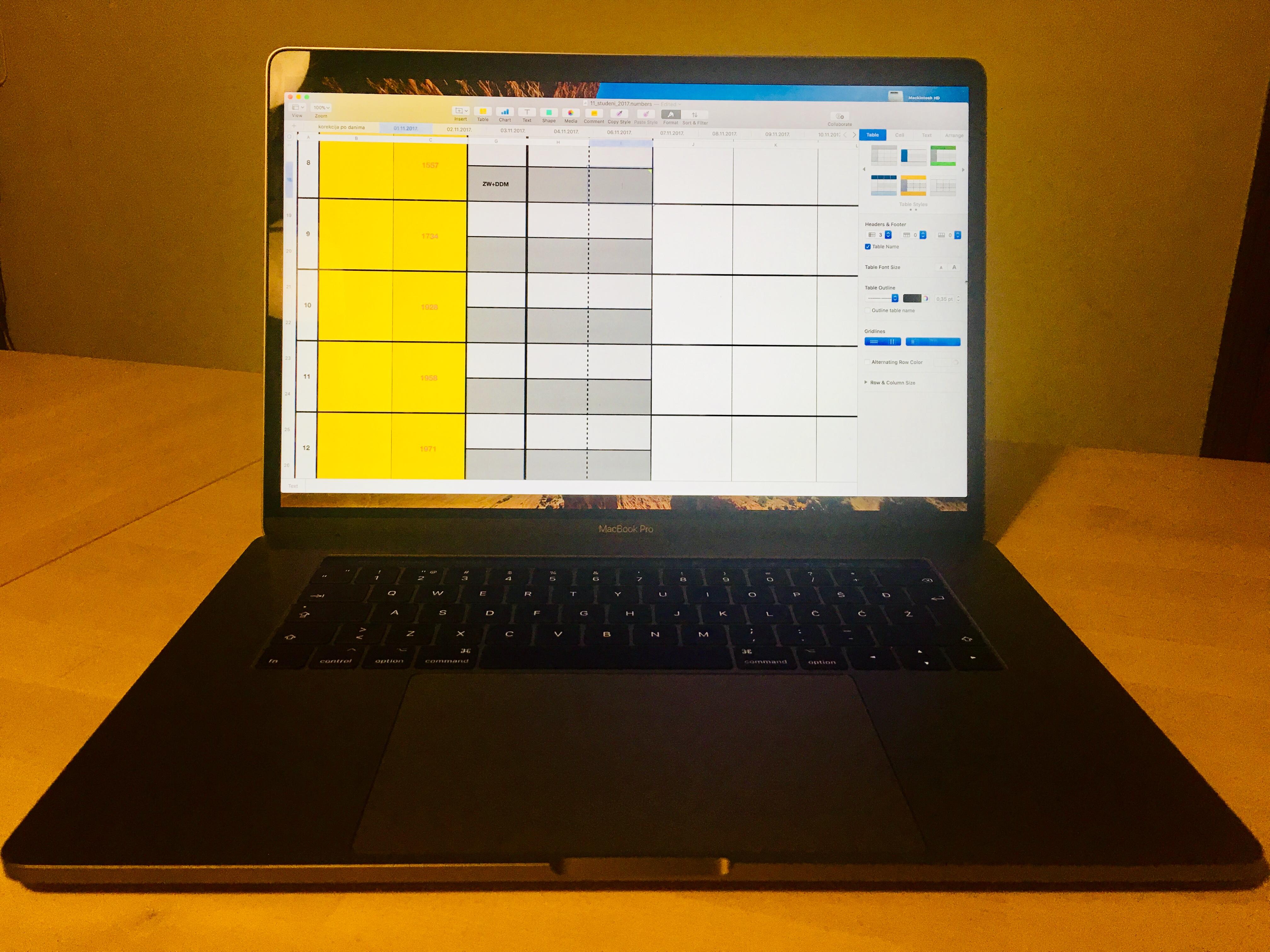 evidencija laptop