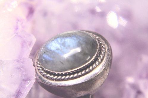 Vintage Labradorite Ring ~ size 10