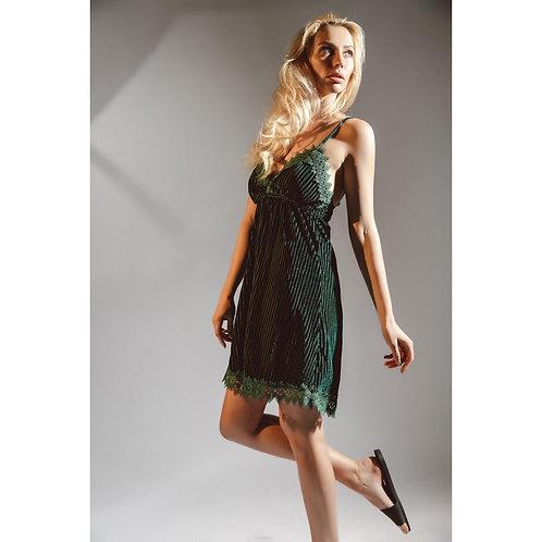 Dark Green Velvet Velour Night Gown