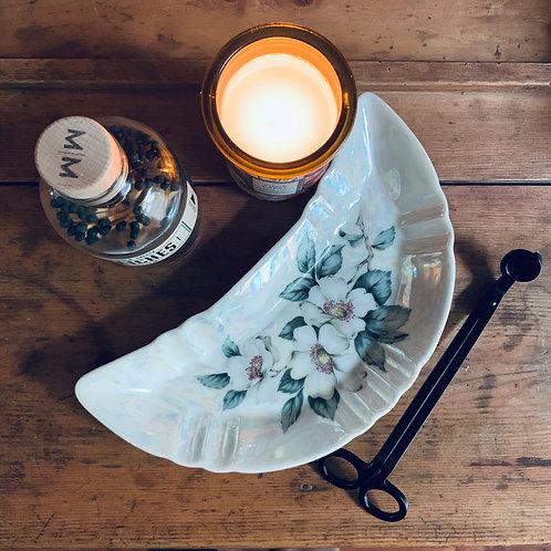 Antique Crescent Moon | Bone Dish | Iridescent Magnolia