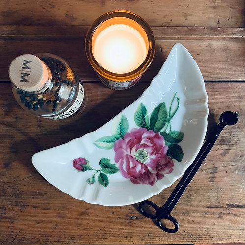 Antique Crescent Moon | Bone Dish | Knockout Rose