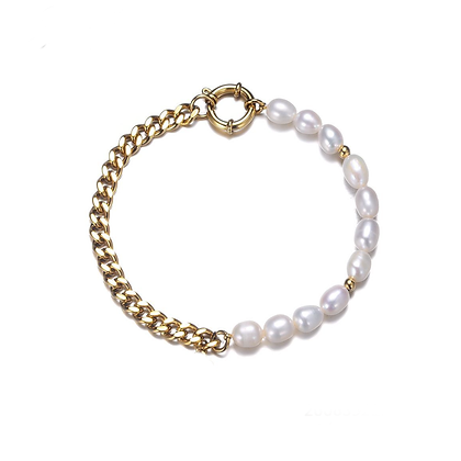 Parel chain armband