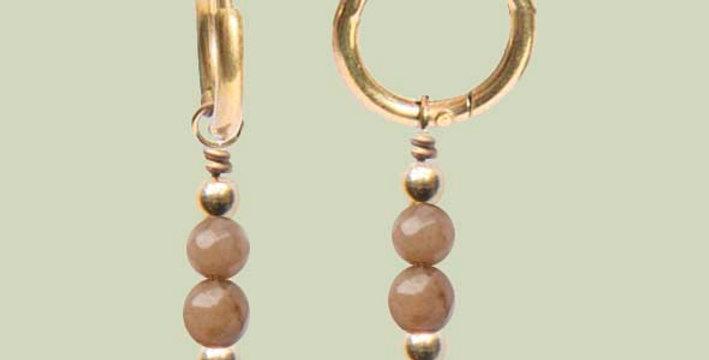 Minimal brown oorbellen