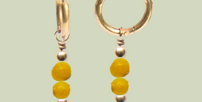 Minimal yellow oorbellen