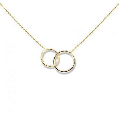 Double rings necklace gold