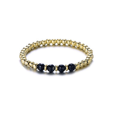 Black four bracelet