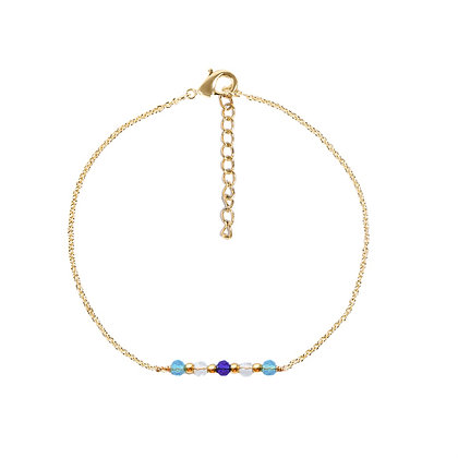 Blue spring armband