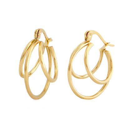 Trio creole earrings