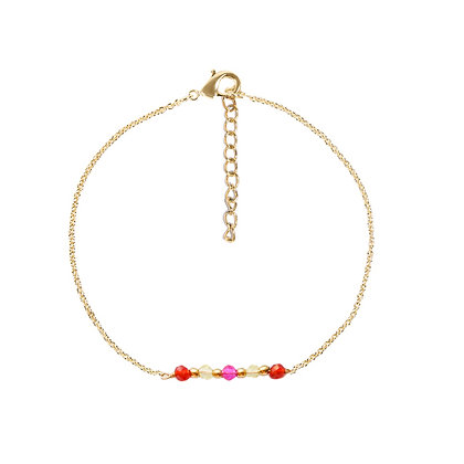 Red spring armband