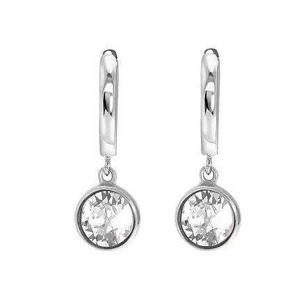 Drop silver oorbellen
