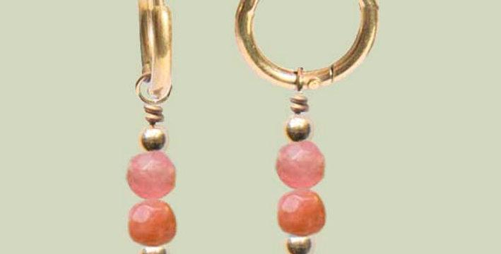 Minimal orange oorbellen