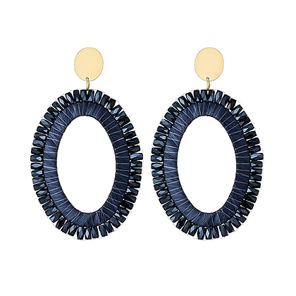 Miyuki blue earrings