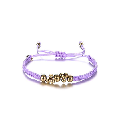 Purple beads armband