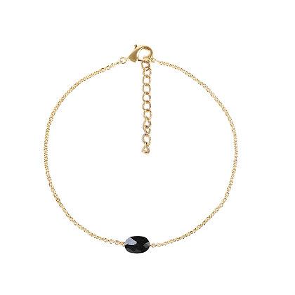 Black single stone armband