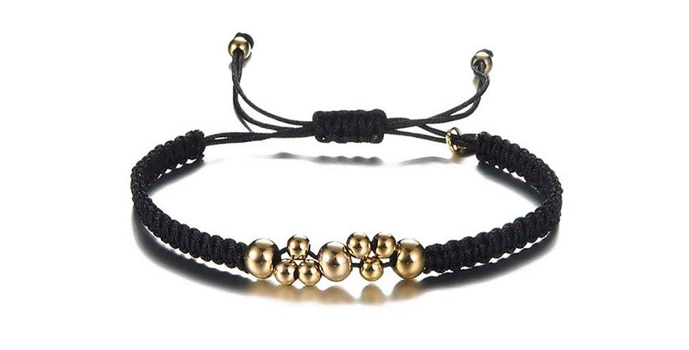 Black beads armband