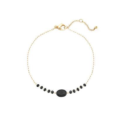Black stone armband