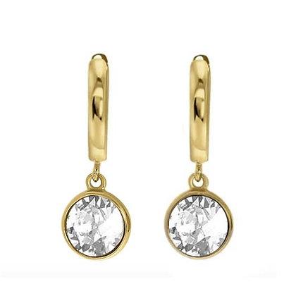 Drop gold silver oorbellen