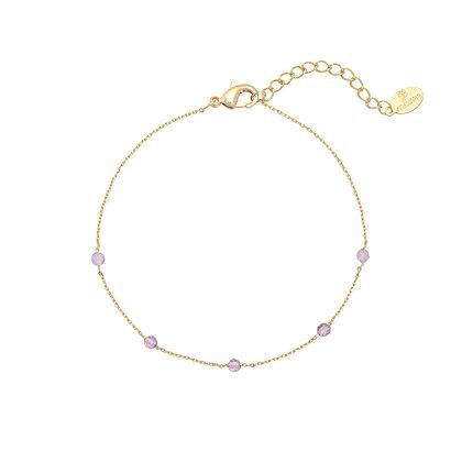 Purple stone armband
