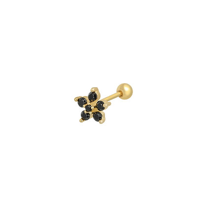 Black flower stud