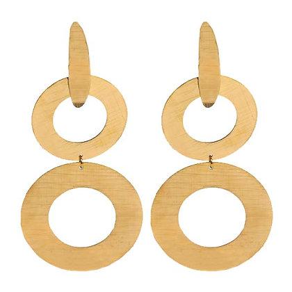 Waterfall earrings gold