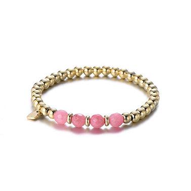 Pink four armband