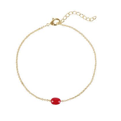 Red single stone armband