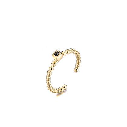 Sparkle black ring