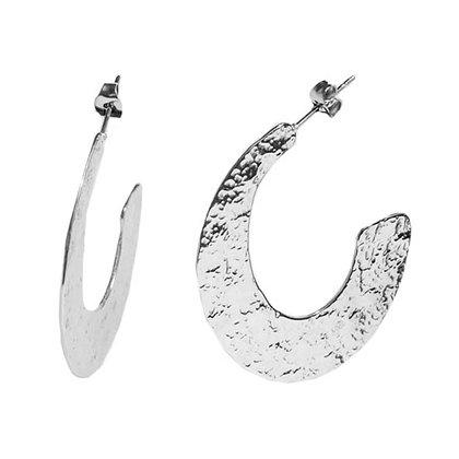 Majestic oorbellen zilver