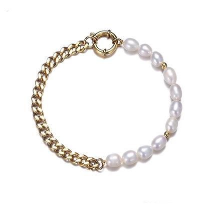 Parel chain armband