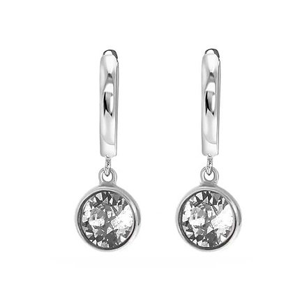 Drop silver grey oorbellen