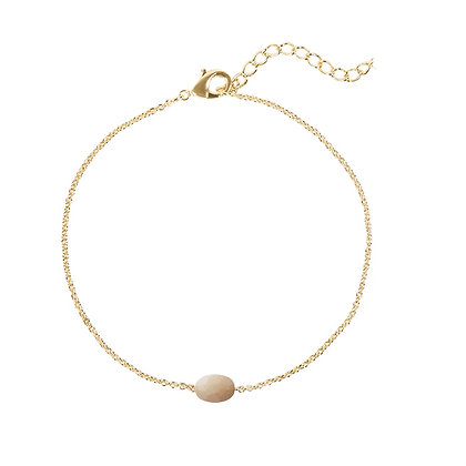 Nude single stone armband