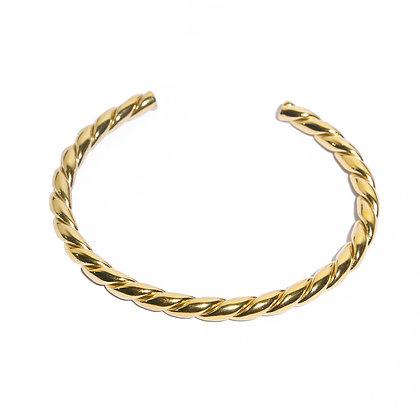 Twisted bangle armband