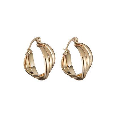 Warp oorbellen goud