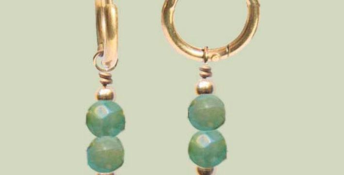 Minimal green oorbellen