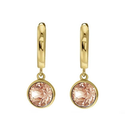 Drop gold nude oorbellen